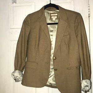 Camel J. Crew schoolboy blazer